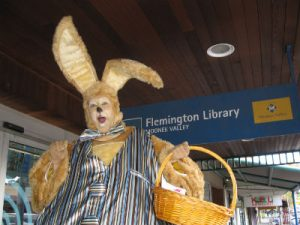 Giant Bunny at Flemmington Library