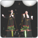 Corporate entertainers baloon waiters