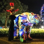 Stilt walkers Melbourne and Victoria The dream bear