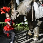 Esha elephant stilt walker entertainer