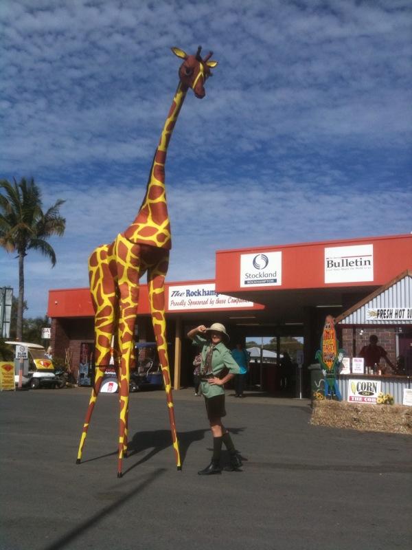 Stilt walker Gemma Giraffe & Ranger