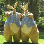 Giant Bunnies Melbourne and Victoria stilt walkers