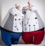 Melbourne and Victoria stilt walkers Giant chefs