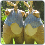 Stilt walkers  giant bunnies