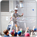Children's entertainers bubble man
