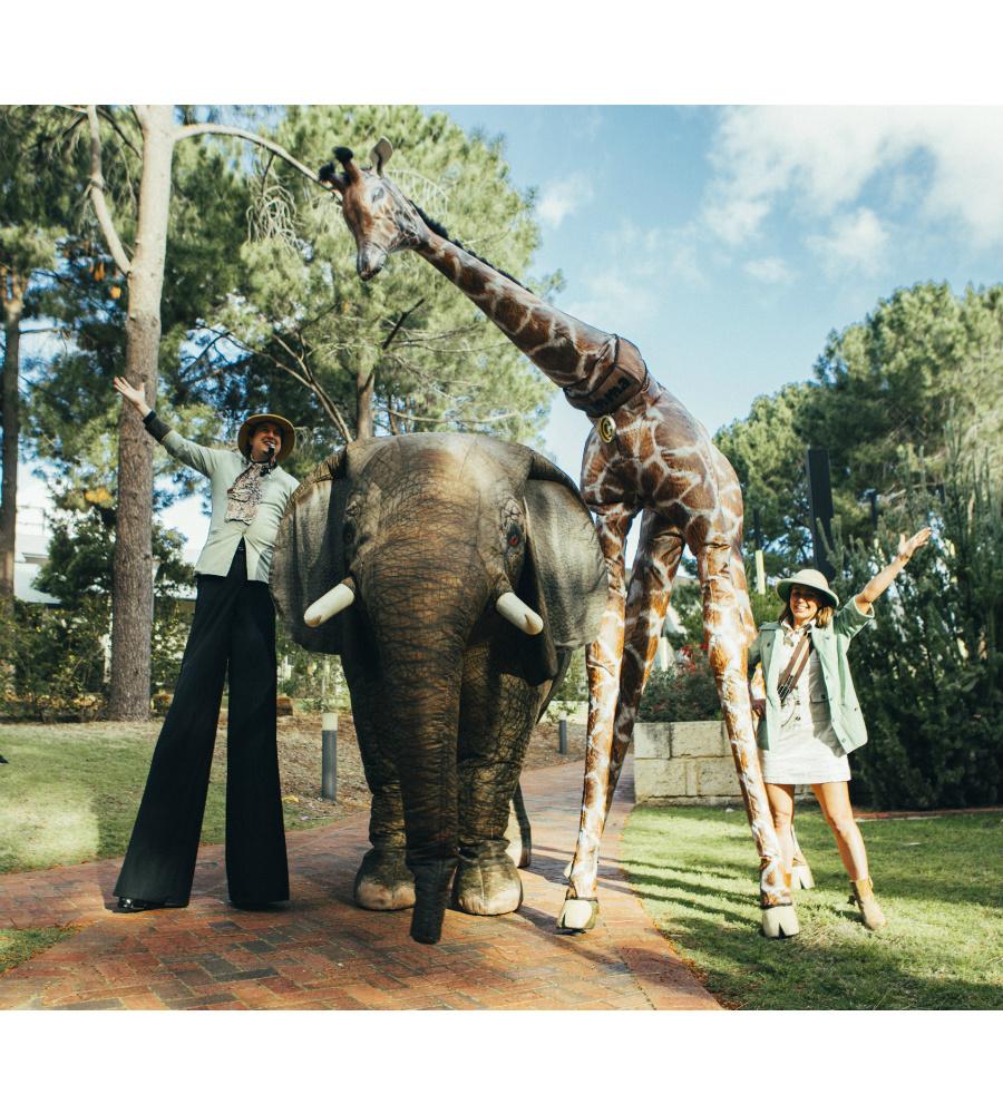 Eesha Elephant_Gemma Giraffe_Stilt Walkers Australia