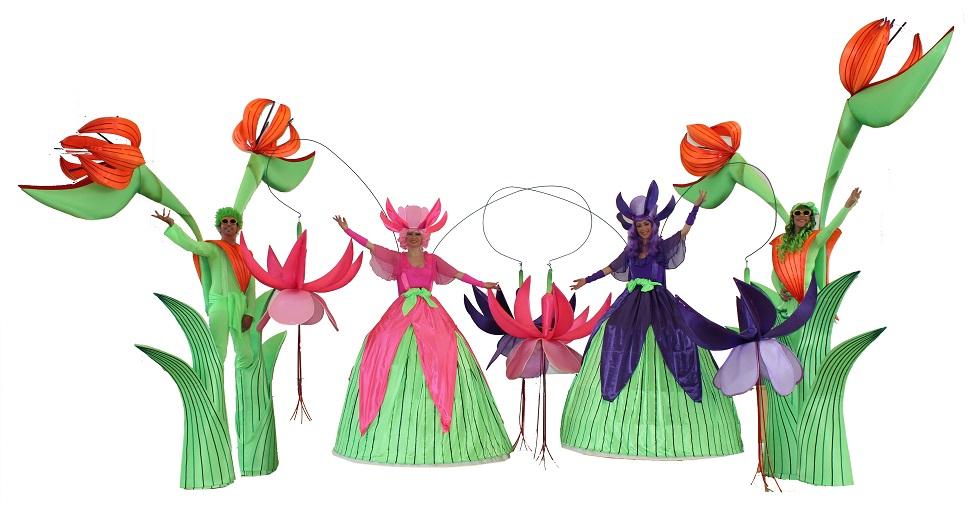 Quartet The Long stems - stilt walkers - event entertainers